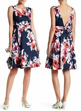 Kate Spade Hazy Floral Open Back Fit & Flare Dress Size:8 $498  NWT