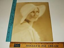 Rare Original VTG Period Old Unknown Girl Woman with Hat Portrait Photo Flapper?