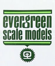 EVERGREEN SCALE MODELS 4524 SHEET STYRENE METAL ROOFING BIANCO 1/2 SPACING
