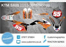 KTM SX85 Full Graphics Kit with custom numbers etc - Your NAME and NUMBER