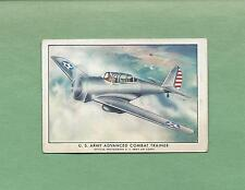 WINGS CIGARETTES Tobacco Trading Card-SERIES B #16--ARMY ADVANCED COMBAT TRAINER