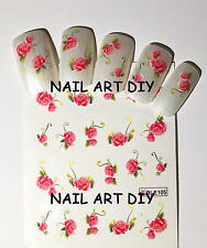 20 Nail art water sticker transfers-adesivi per unghie Fiori- BUY 3 GET 1 FREE!!