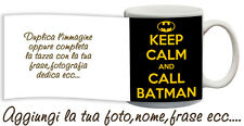 Tazza keep Calm and call Batman personalizzata con nome  foto ecc Idea regalo