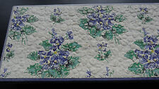 vintage 1950s violet flower card jewellery box for bead necklace -N29
