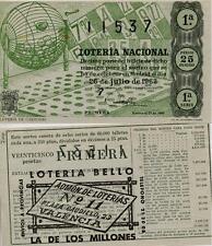 Año 1963. 25 Pts. Décima parte del billete. 26 de Julio. Sorteo Nº 21. 1ª Serie.
