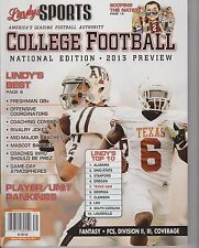 LINDY'S SPORTS COLLEGE FOOTBALL NATIONAL EDITION 2013 PREVIEW, LINDY'S TOP 10.