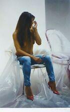 """PETER HANDEL """"ANTONELLA"""" erotic Nude HAND 47/50 Photo Realism German Artist"""