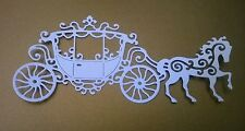 5 x TATTERED LACE CARRIAGE DIE CUTS - WHITE -TOPPER/WEDDING/CARDS/SCRAPBOOKING