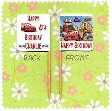 20 personnalisé DISNEY CARS CUP CAKE Party Pick Topper décoration anniversaire du pavillon
