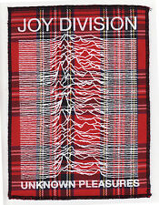JOY DIVISION UNKNOWN PLEASURES RED TARTAN PATCH PUNK ROCK IAN CURTIS