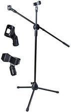 Microphone Stand 360 Degree Rotating Adjustable Height Folding Boom Tripod Clips