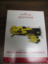2013 HALLMARK GEE BEE SUPER SPORTSTER MODEL Z RACING AIRCRAFT ORNAMENT~QX9182