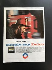 Delco Battery | 1961 Vintage Print Ad | United Motors 1960s Fireman