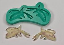 Silicone mold mould sugarcraft cake  decoration sugarart moulds fish (7002)