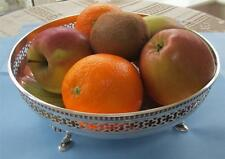 A GORGEOUS SHAPELY SOLID SILVER FRUIT DISH HALLMARK B'HAM 1929 IN MINT CONDITION