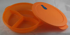 Tupperware Crystal Wave Mikrowellengeschirr 1,9 l 3-Geteilt rund Orange Neu OVP