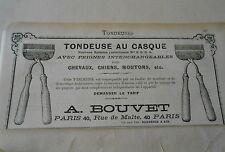 Tondeuse au Casque avec peignes Chevaux Cheins Moutons etc.. A. Bouvet