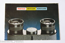 Pentax Binoculars Monoculars Sales Tri-Fold Brochure - English - USED B65