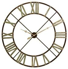 Large 4' Restoration Hardware Look Belgium Working Tower Rustic Iron Wall Clock