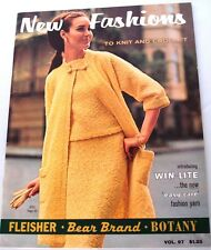 1960's NEW FASHIONS TO KNIT & CROCHET FLEISHER BEAR BRAND BOTANY VOL. 97