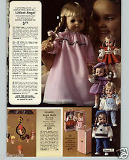 1972 PAPER AD Vogue Littlest Angel Doll Floppy Baby Beans Talking