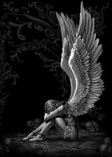 "GOTHIC ANGEL WINGS ~ CANVAS ART PRINT poster 16""X 12"""
