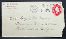 US Postal History Stationery Cover Boston Cook USA Ganzsache Brief (H-6827