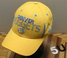 NWOT ADIDAS DENVER NUGGETS BASKETBALL HAT YELLOW ADJUSTABLE NICE LOOKING LID!!