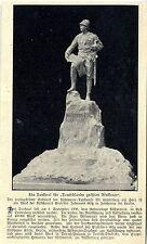 """Wißmann- Denkmal von Prof. Johannes Götz * """"Deutschlands größten Afrikaner"""" 1907"""