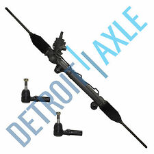 Complete Power steering Rack and Pinion Assembly + 2 NEW Outer Tie Rods