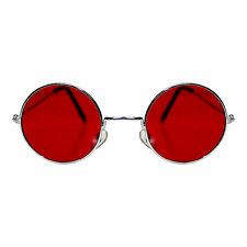 Adults / Kids Round Red Lens Lennon Beatle Fancy Dress Glasses (WORLD BOOK DAY)