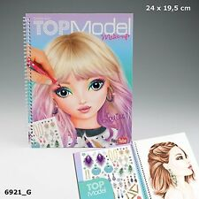 Depesche TOPModel Make Up - CREATE YOUR Top Model MAKEUP COLOURING BOOK