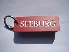 JUKEBOX SEEBURG LEATHER KEYRING FOB, FOR MACHINE