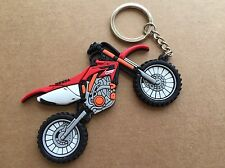 New Honda CRF OFFRoad Motorcycle keychain Rubber. As Picture