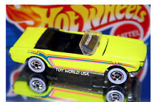 Hot Wheels Revealers Ford Mustang Convertible Flourescent Yellow