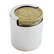 SOLID HALLMARKED SILVER ONE POUND COIN HOLDER TUBE