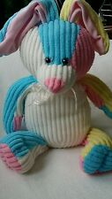 "Sugar Loaf Bunny Rabbit Plush SPRING EASTER Cute Ribbed Stuffed 16"" PASTEL COLOR"