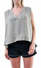 Free people Women's Darcy Super V Cap Solid Tank Top Beige XS RRP £59 BCF66