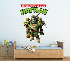 Personalized Teenage Mutant Ninja Turtles Wall Decal (Removable and Replaceable)