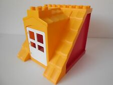 Lego Duplo - ORANGE ROOF with Red Walls & opening door - Ideal for House, Farm