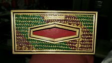 Vintage Bamboo Wicker Handmade Wooden Tissue Box Philippines rare