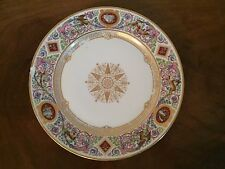 Louis Philippe 19th c. French Sevres Paris Porcelain Plate Chateau de F. Bleau