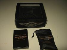 Harley Davidson 110TH Anniversary Belt Buckle,Ride Bell Zippo Lighter IN THE BOX