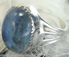 Vintage Blue Stone Sterling Silver 0.925 Band Ring size 4 1/2 or I 1/2