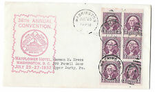 720b FDC Event Cover Washington Booklet Pane of 6 SPA Convention Cachet