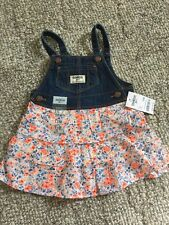 Girls OshKosh Dress 12 Months NWT Flowers Jean