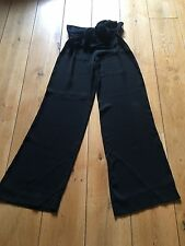 VALENTINO black trousers - v.g.c. - size 8 - rrp £750.00