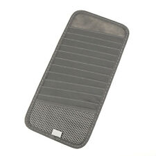 Grey Car Sun Visor CD DVD Card Case Storage Holder Clip Cover Bag Organizer