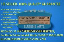 Ricoh GC-31 Ink Cartridge Resetter E2600 E3300 E3300N E3350N E5050N E5500 E5550N
