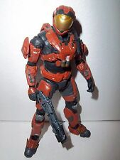 RARE!! Halo Reach Series 5 **RUST SPARTAN SECURITY** 100% Complete w/ Weapon!!